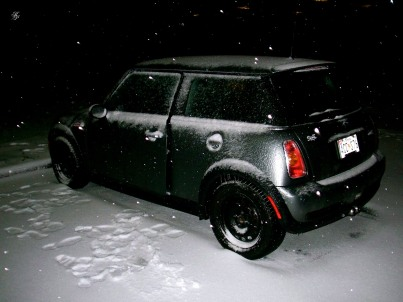 A frozen MINI