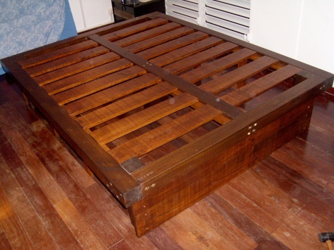 queen size bed frame plans with drawers - Diy Queen Size Bed Frame