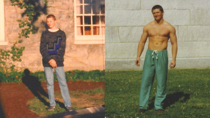 Diptych Bodybuilding College Years