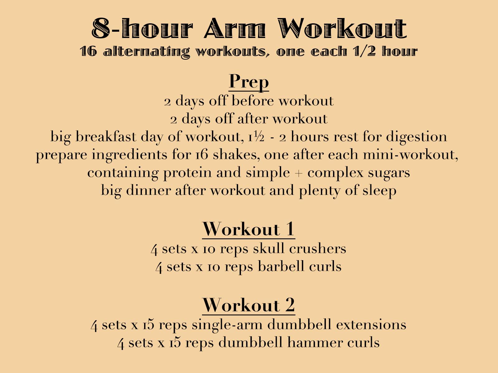 Killer 8-hour arm workout – Raoul Pop
