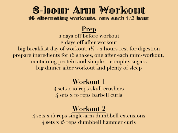 8-hour Arm Workout