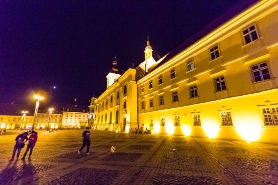 An evening in Sibiu's historical center.