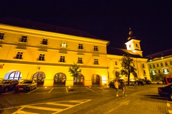 An evening in Sibiu's historical center.