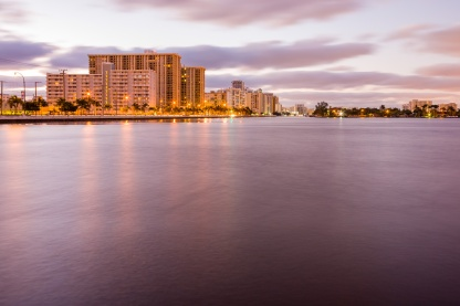 Long exposure looking out over the Intracostal and A1A.