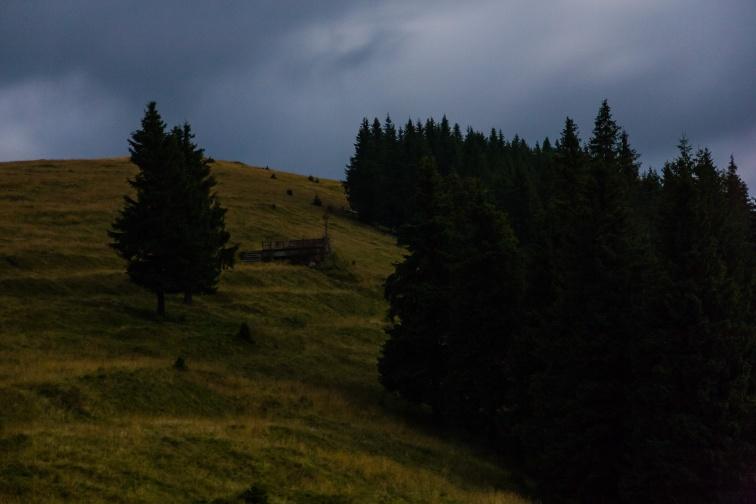 Mt. Prislop at night, Bucovina, Romania.