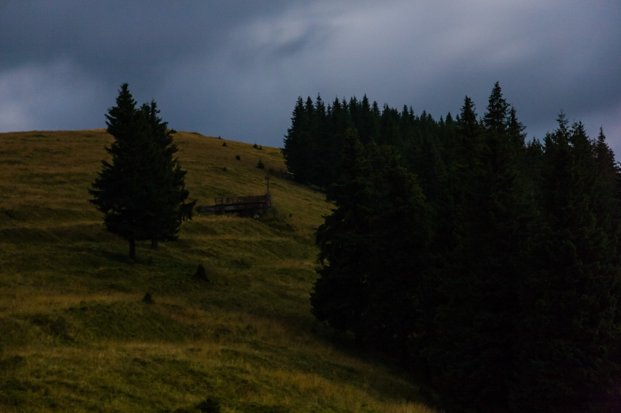Mt. Prislop at night, Bucovina, Romania.