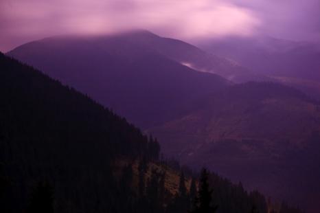 Mt. Prislop at night, about 2 am, Bucovina, Romania.