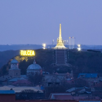 The Tulcea Monument, early morning.