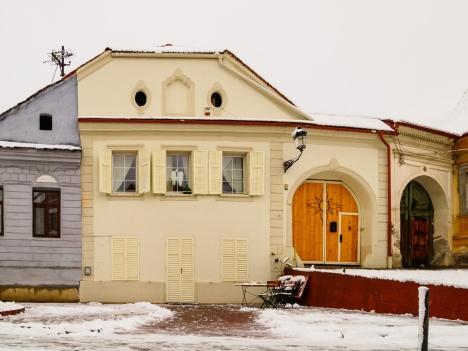 Historic district, Mediaș, Romania