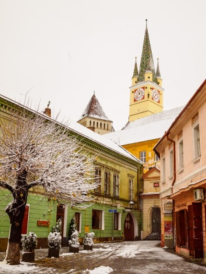 Historic district, Mediaș, Romania