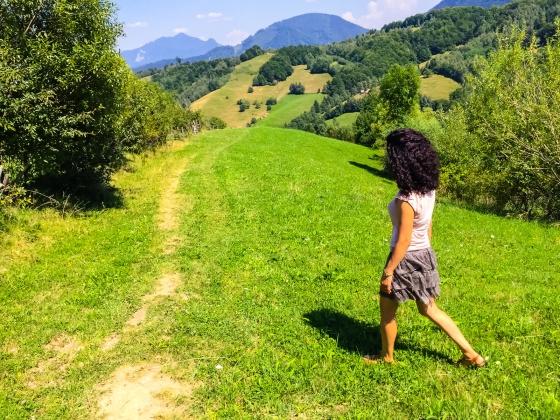 In the mountains near Bran, România
