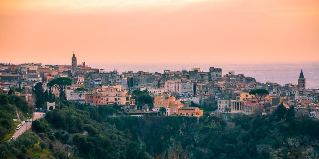 Taken from one of the hillsides surrounding Tivoli, Italy.