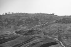 A winding dirt road