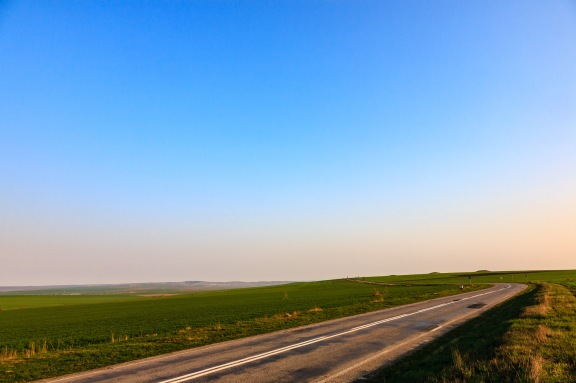 On the road in Dobrogea