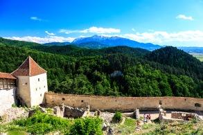 The mountains outside Rasnov Fortress