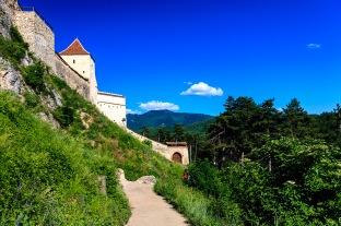 Outside Rasnov Fortress