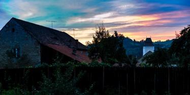 A twilight scene