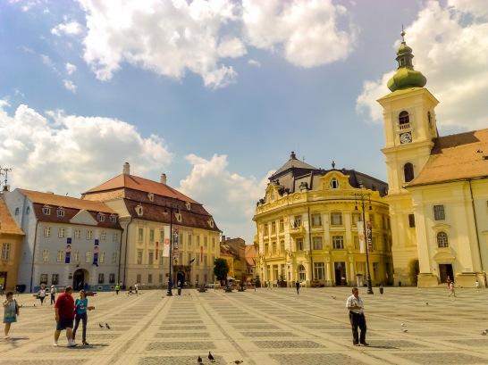 Historic district, Sibiu, Romania