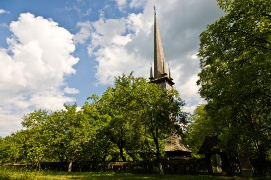 "Biserica de Lemn ""Sfintii Arhangheli Mihail si Gavriil"", Surdesti, Romania -- the tallest wooden church in the world."