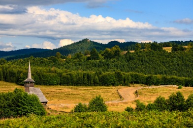 Crossing the Carpathian Mountains in the province of Maramures, Romania