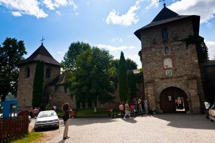Main gate, Manastirea Moldovita, Bucovina, Romania.