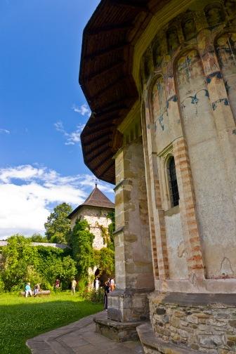 Church, Manastirea Moldovita, Bucovina, Romania.