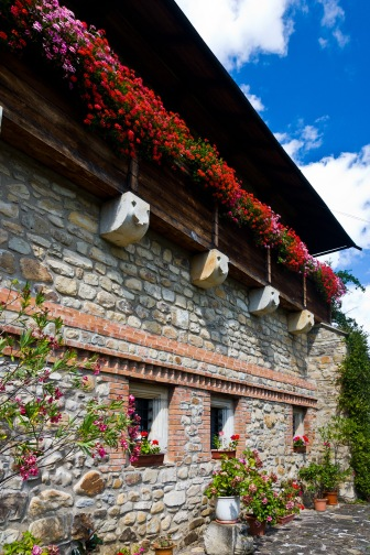 Lovely stone architecture, Manastirea Moldovita, Bucovina, Romania.