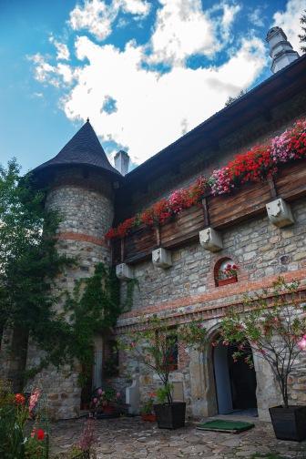 Cloisters, Manastirea Moldovita, Bucovina, Romania.