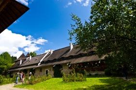 Interior courtyard, Manastirea Moldovita, Bucovina, Romania.