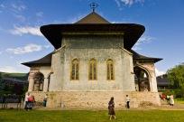 Church, Manastirea Sucevita, Bucovina, Romania.