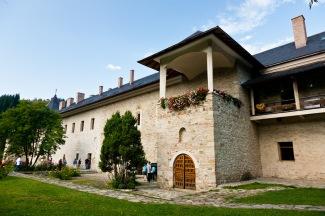 Cloisters, Manastirea Sucevita, Bucovina, Romania.
