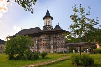 Interior courtyard, Manastirea Sucevita, Bucovina, Romania.