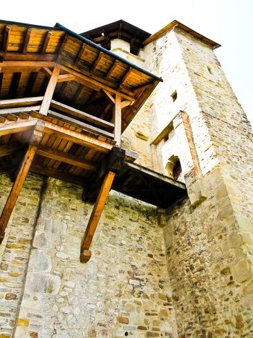 Cloisters, Manastirea Putna, Bucovina, Romania.