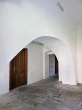 Inside the cloisters, Manastirea Neamt, Moldova, Romania.