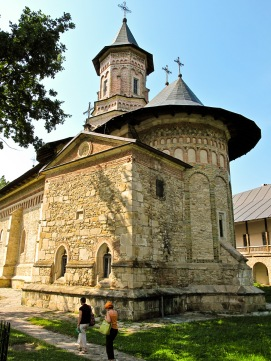 Interior courtyard, Manastirea Neamt, Bucovina, Romania