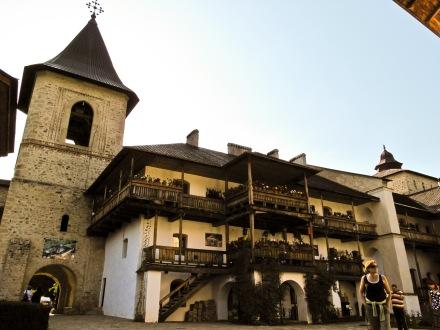Interior courtyard, Manastirea Secu, Moldova, Romania.