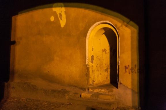 Doorway at night