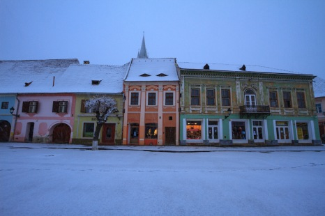 Taken during a mid-February snowfall in Medias, Romania