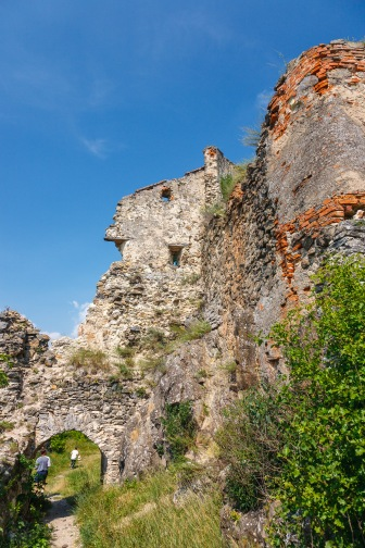 The Rupea Fortress before the restoration work, Rupea, Romania