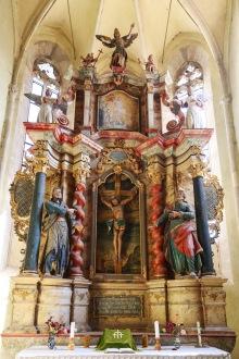 The fortified church in Reichesdorf, Transilvania, Romania