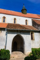 The fortified church in Reichesdorf, Transilvania, Romania