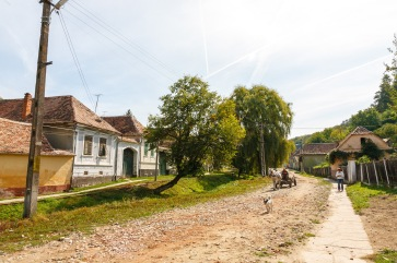 In Reichesdorf, Transilvania, Romania