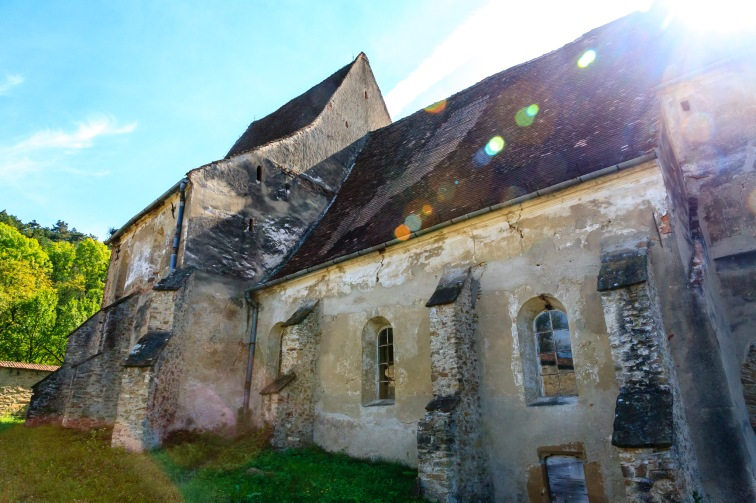 Fortified church in Copsa Mare, Transilvania, Romania