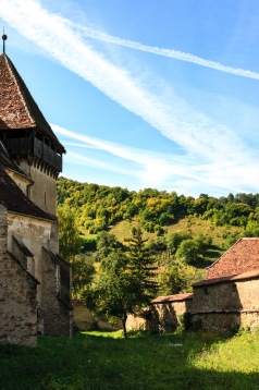 Fortified church in Copsa Mare, Romania