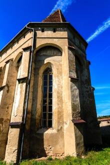 Fortified church in Copsa Mare, Transilvania, Romania