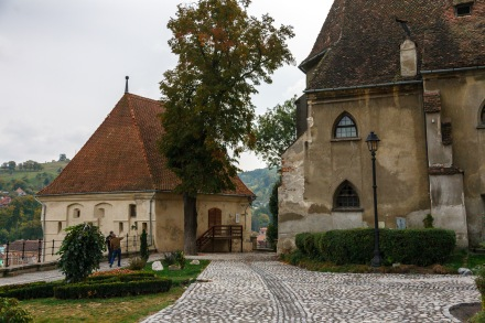 Inside the citadel, Sighisoara, Romania