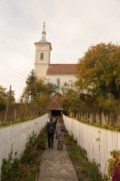 At the fortified church in Bahnea, Transilvania, Romania