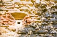 The ruins of the Castle Bolyai in the village of Buia, Transilvania, Romania