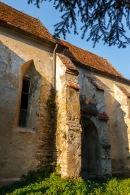 At the fortified church in Moardas, Transilvania, Romania