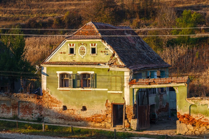 In the village of Moardas, Transilvania, Romania